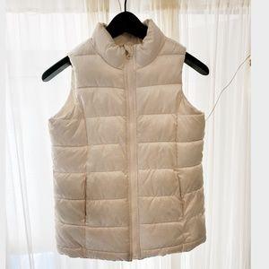 Kids Cream White Warm Winter Puffy Vest